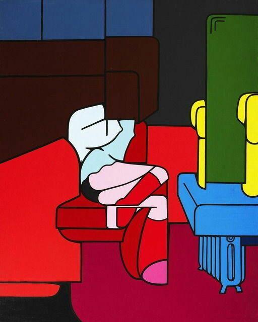 Valerio Adami • Il posto, 1968-1969