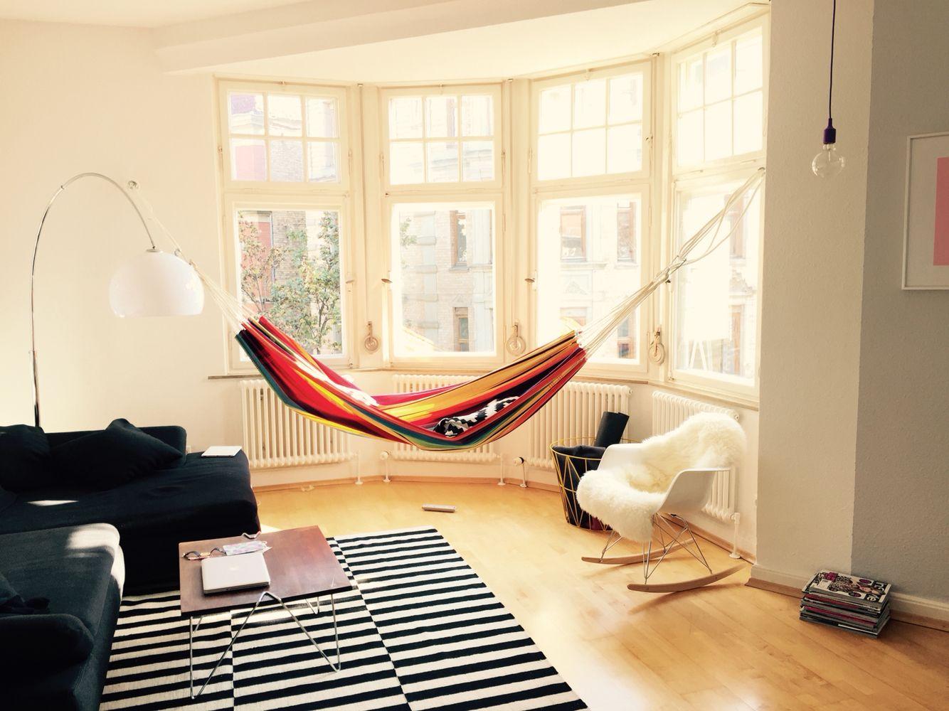 Hängematte im Wohnzimmer  Wohnung gestalten, Wohnen, Wohnung