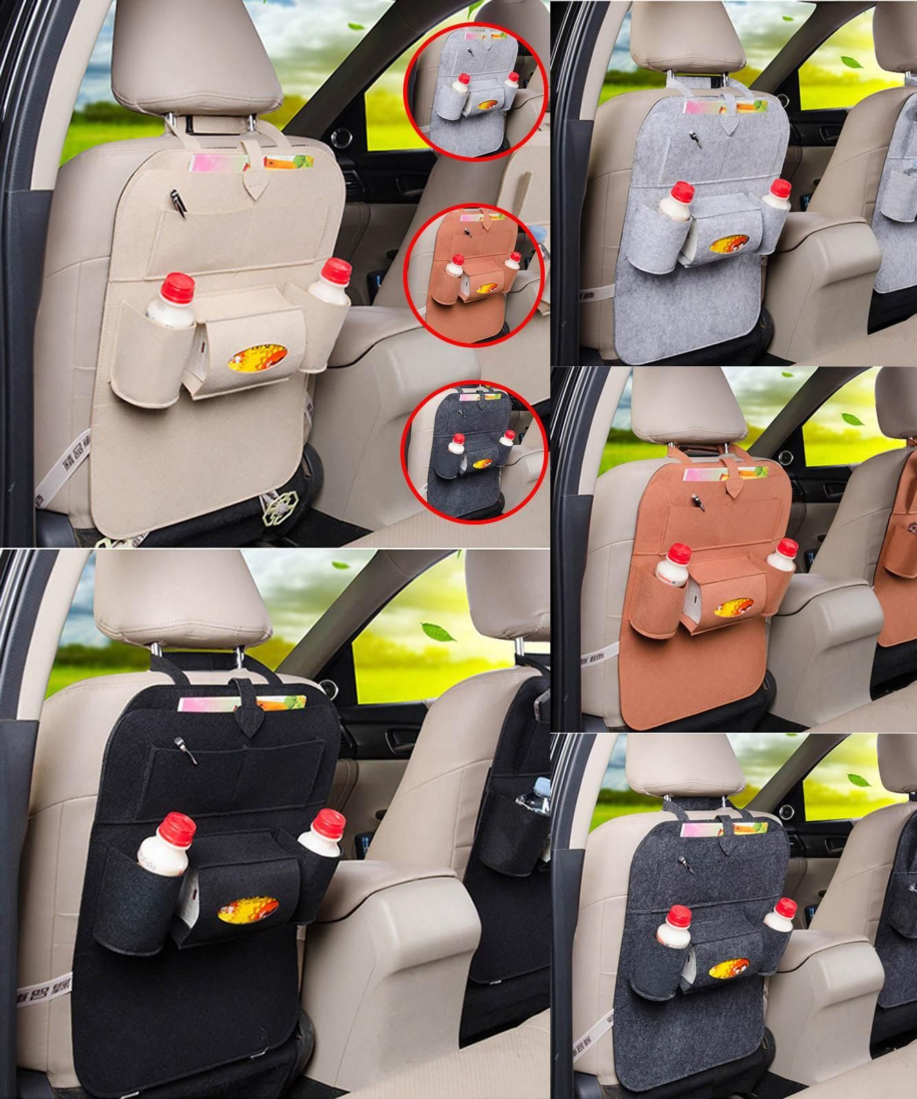 Visit To Buy Car Back Seat Storage Bag Cover Organizer Bottle Tissue