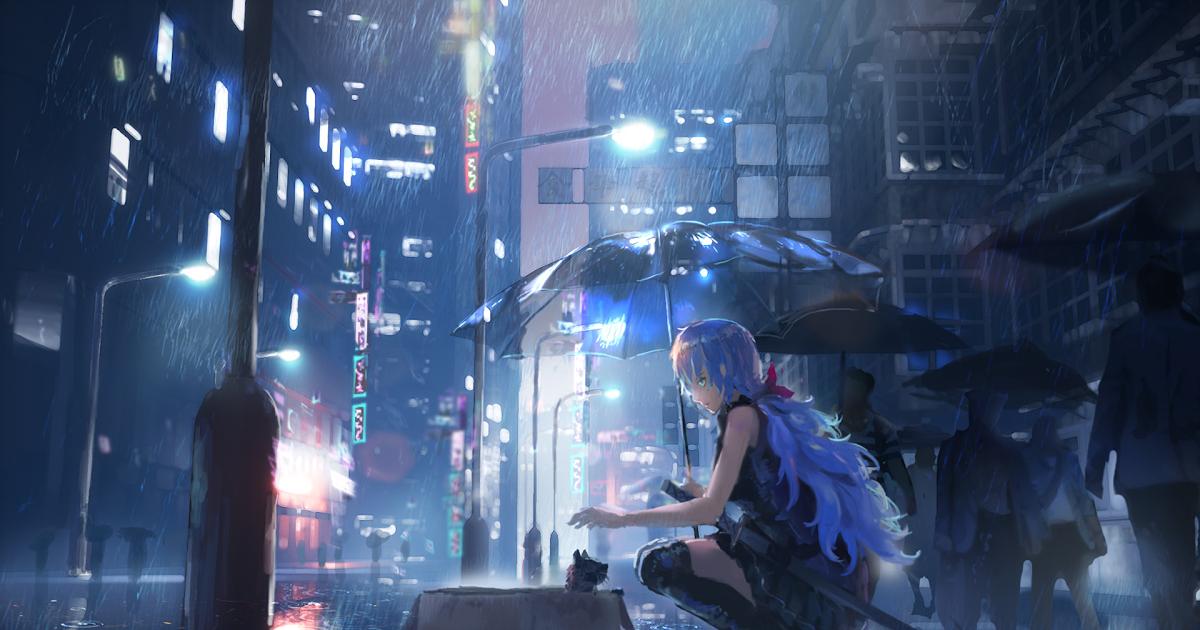 4k Wallpaper Anime Rain - Wallpaper HD New