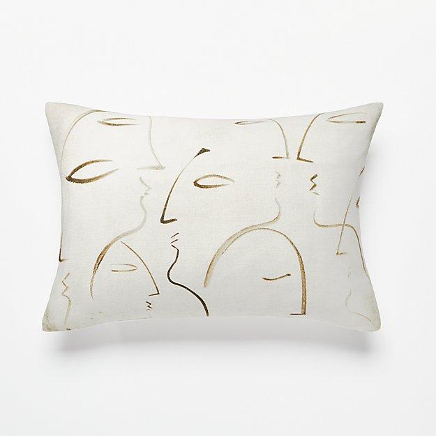 18 x12 silhouette pillow cb2