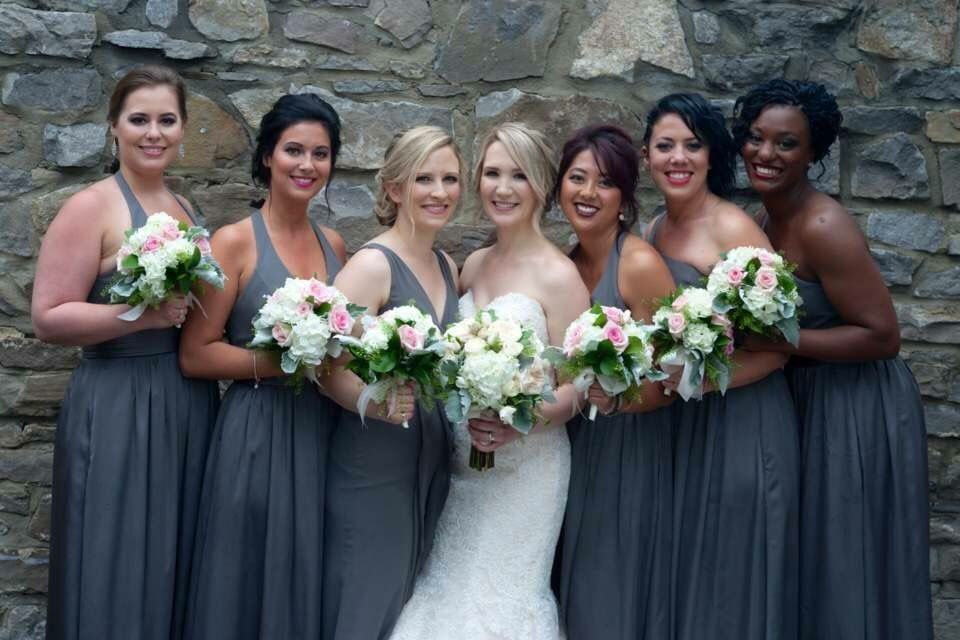 Bride And Bridal Party Hairstyles Bridal Party Hair Party Hairstyles Bridal Advice