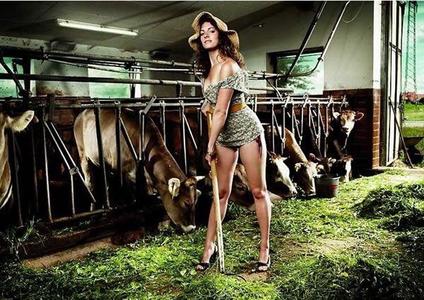 Sexy farm wife