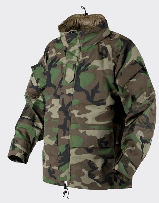 726278c1782e2 Helikon Outdoor ECWCS GEN II waterproof parka - U.S woodland Waterproof Rain  Jacket, Gore Tex