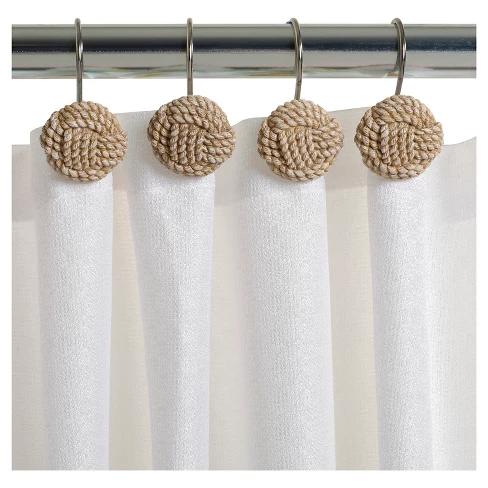 Seaside Serenity Resin Novelty Shower Curtain Hooks Natural