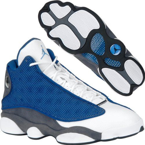 f6ce616eaca82 Men Nike Air Jordan 13 Retro French Blue   University Blue   Flint Grey    White