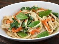 Udon Noodles with Asian Vegetables and Peanut Sauce