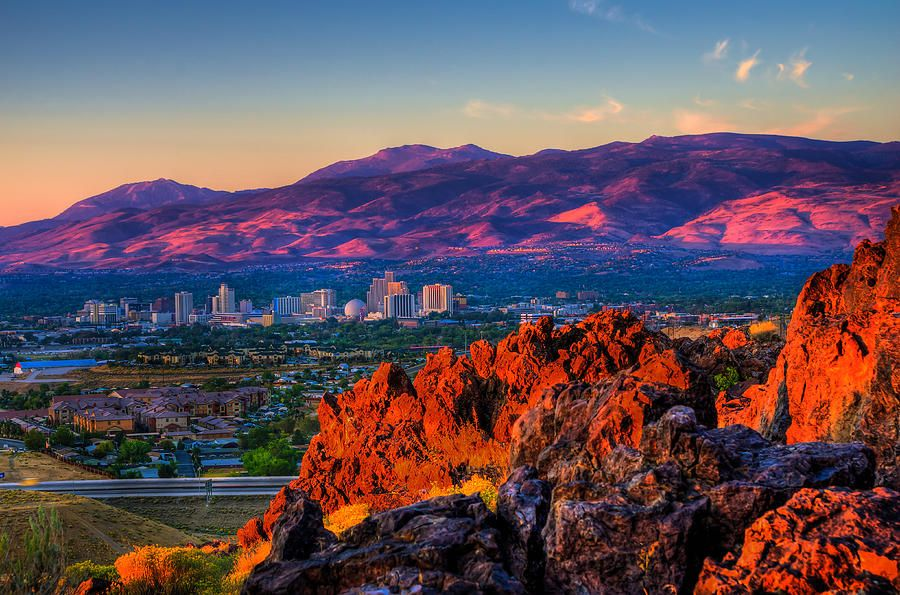 Reno Nevada Sunrise By Scott Mcguire Places To Travel Reno