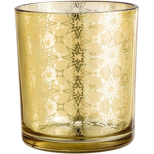 Patterned Tea Light Holder $4.99 (€4,50) ❤ liked on Polyvore featuring home, home decor, candles & candleholders and star home decor