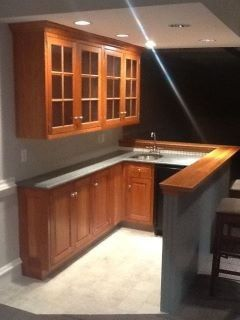Small Basement Bar Design, Pictures, Remodel, Decor and Ideas.