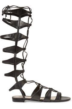 Schutz Lace-up leather sandals  - Schutz black sandalsSlight heelLeatherLace-up…