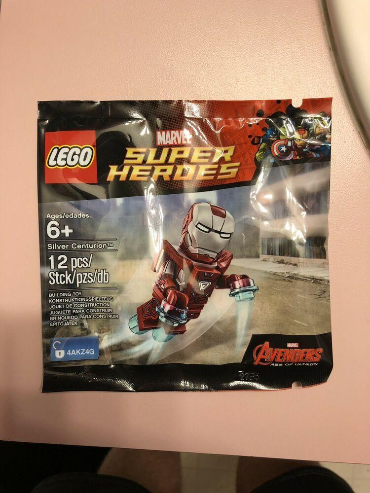 Silver Promo Minifigure Marvel Man Lego 5002946 Iron Centurion SzVpqMGU