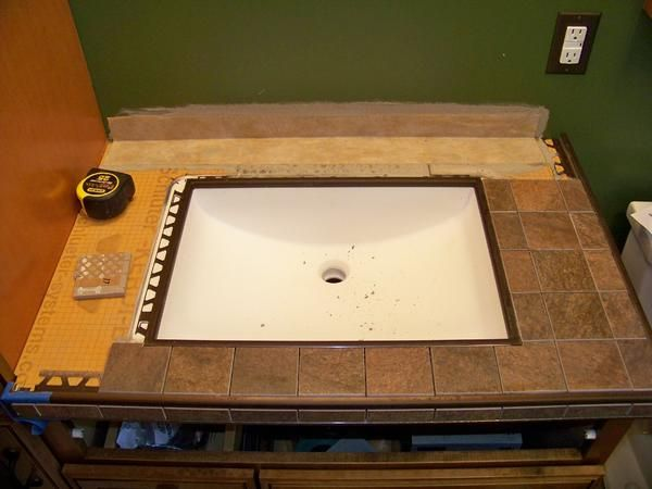 Kerdi Board Undermount Sink With Tile Countertop Project Photos