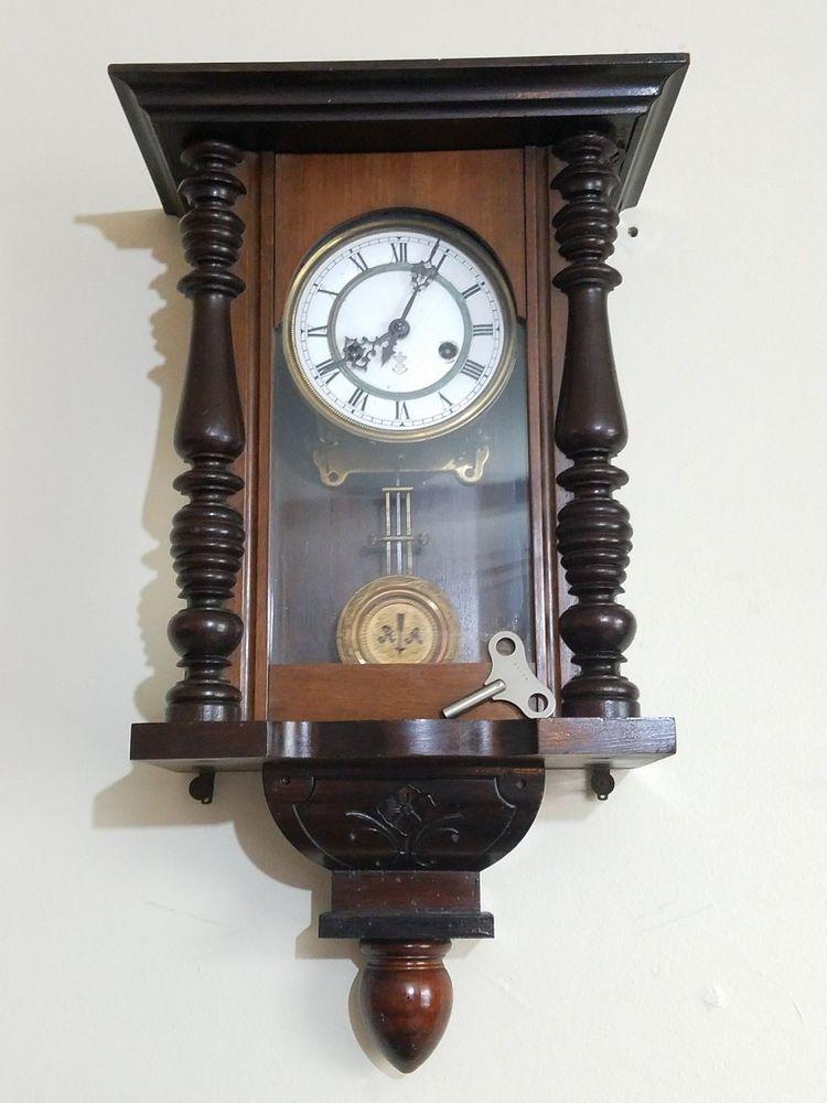 Antique Gustav Becker Silesia P26 Regulator Pendulum Wall Clock