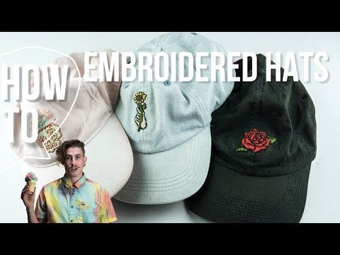 Diy Embroidered Hats - YouTube