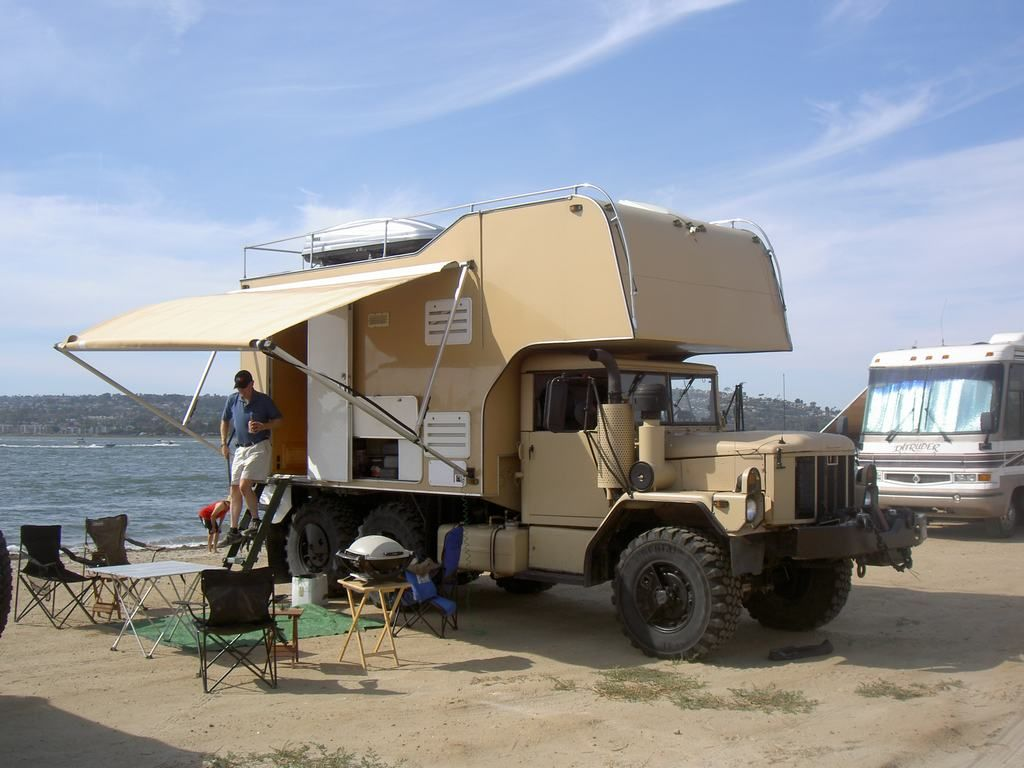 M35 Camper Anyone See This Beast Big 6x6 Rv On Ebay