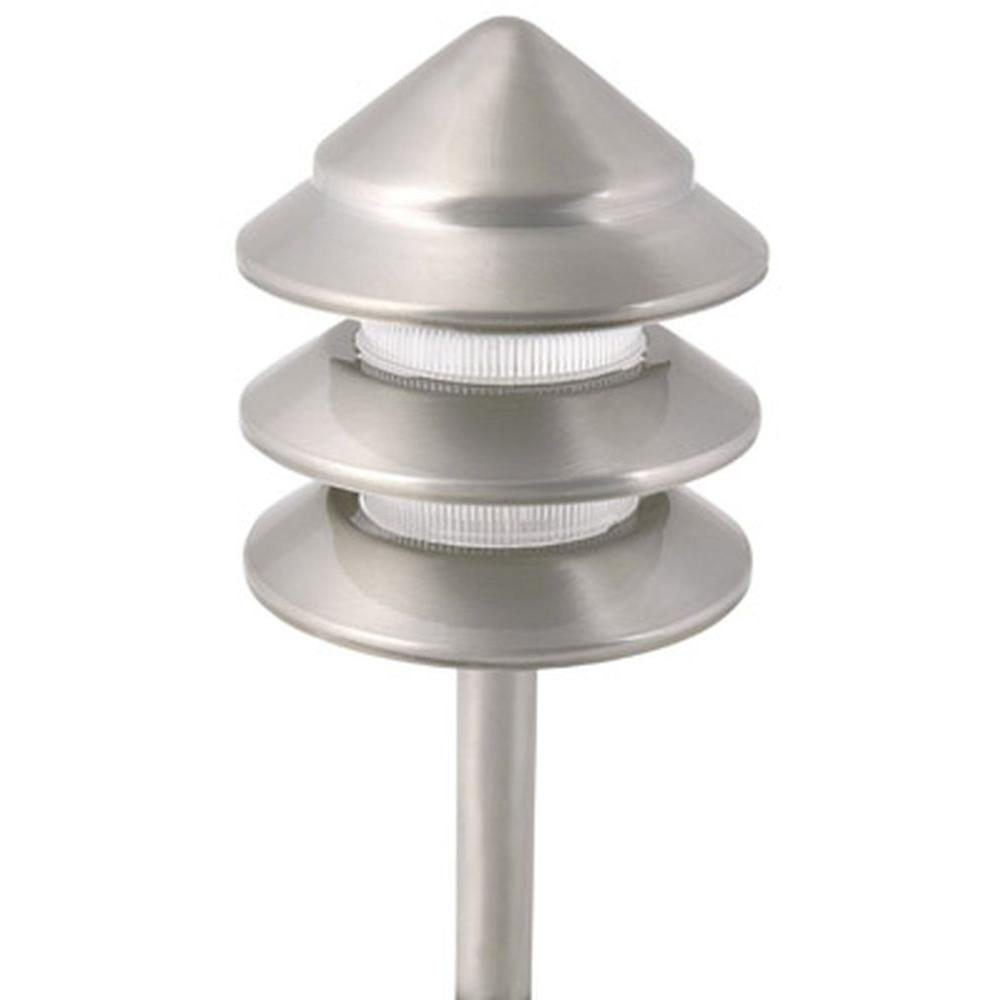 Holton Style 3 Tier Low Voltage 11 Watt Nickel Metal Outdoor How To Wire Lighting Part Landscape Path Light