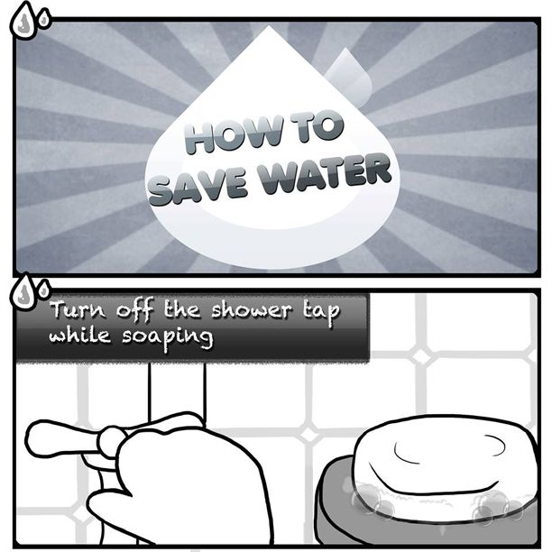 How To Save Water Turn Off The Shower Tap While Soaping With