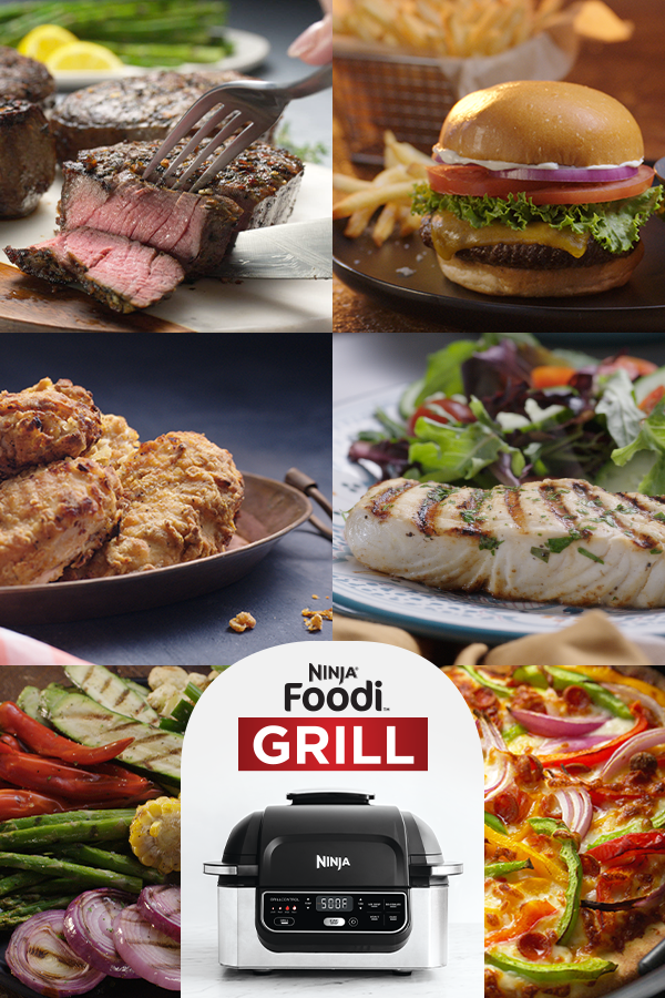 Grill Sizzle Sear True Char Grilled Flavors Indoors Virtually No Smoke Try The Ninja F In 2020 Ninja Cooking System Recipes Indoor Grill Recipes Grilling Recipes