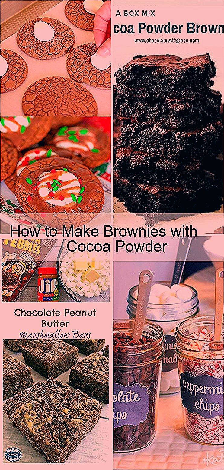 How to Make Brownies with Cocoa Powder,