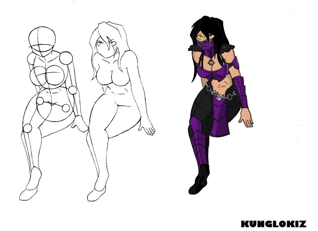 How To Draw Mileena Mkx By Kunglokiz1 Deviantart Com On Deviantart