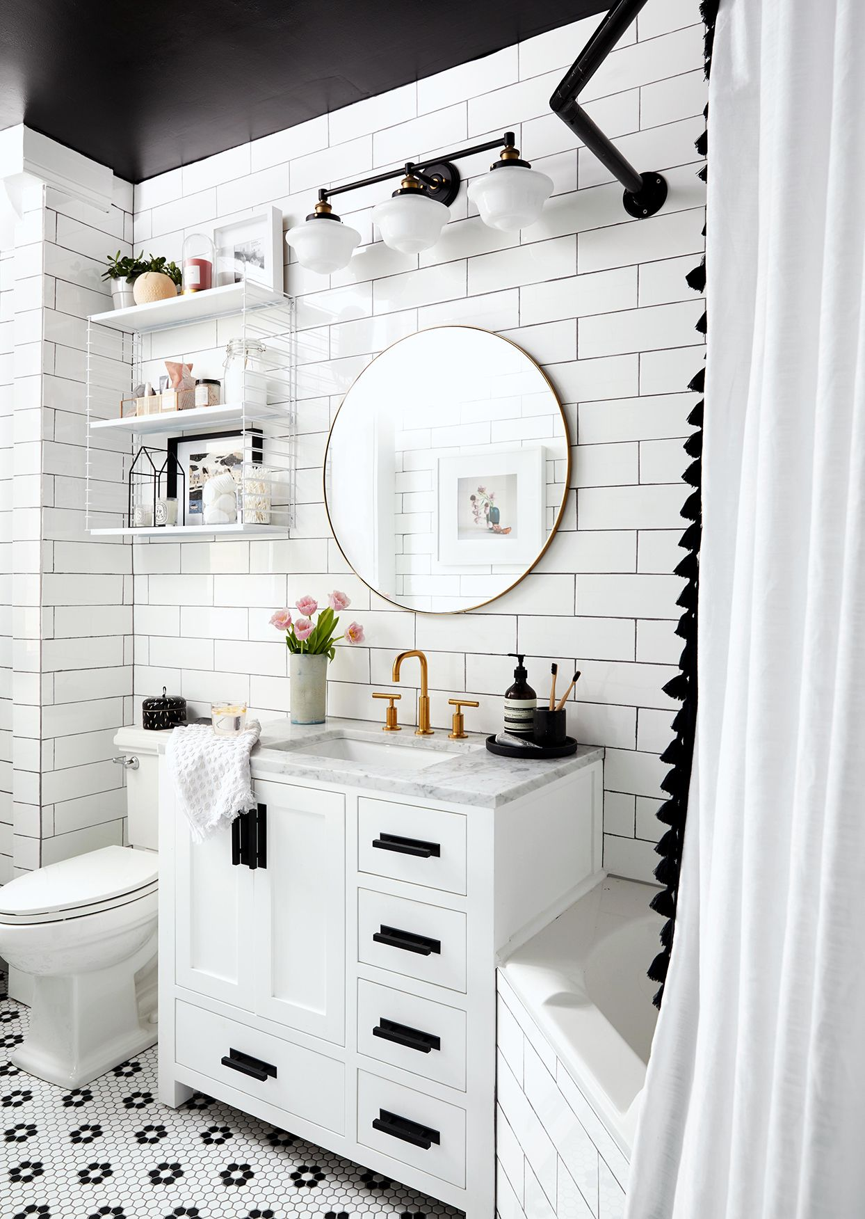 How To Stretch A Small Bathroom Budget In 2020 Small Bathroom Bathrooms Remodel Decorating Bathroom