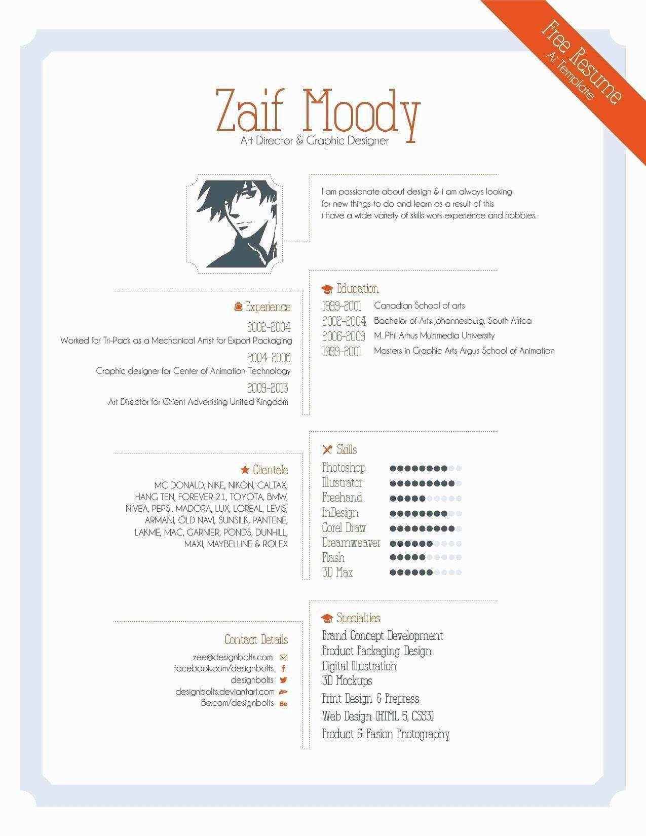 Freelance Graphic Design Resume Elegant 25 Professional Freelance Illustrator Resume Graphic Resume Graphic Design Resume Indesign Resume Template