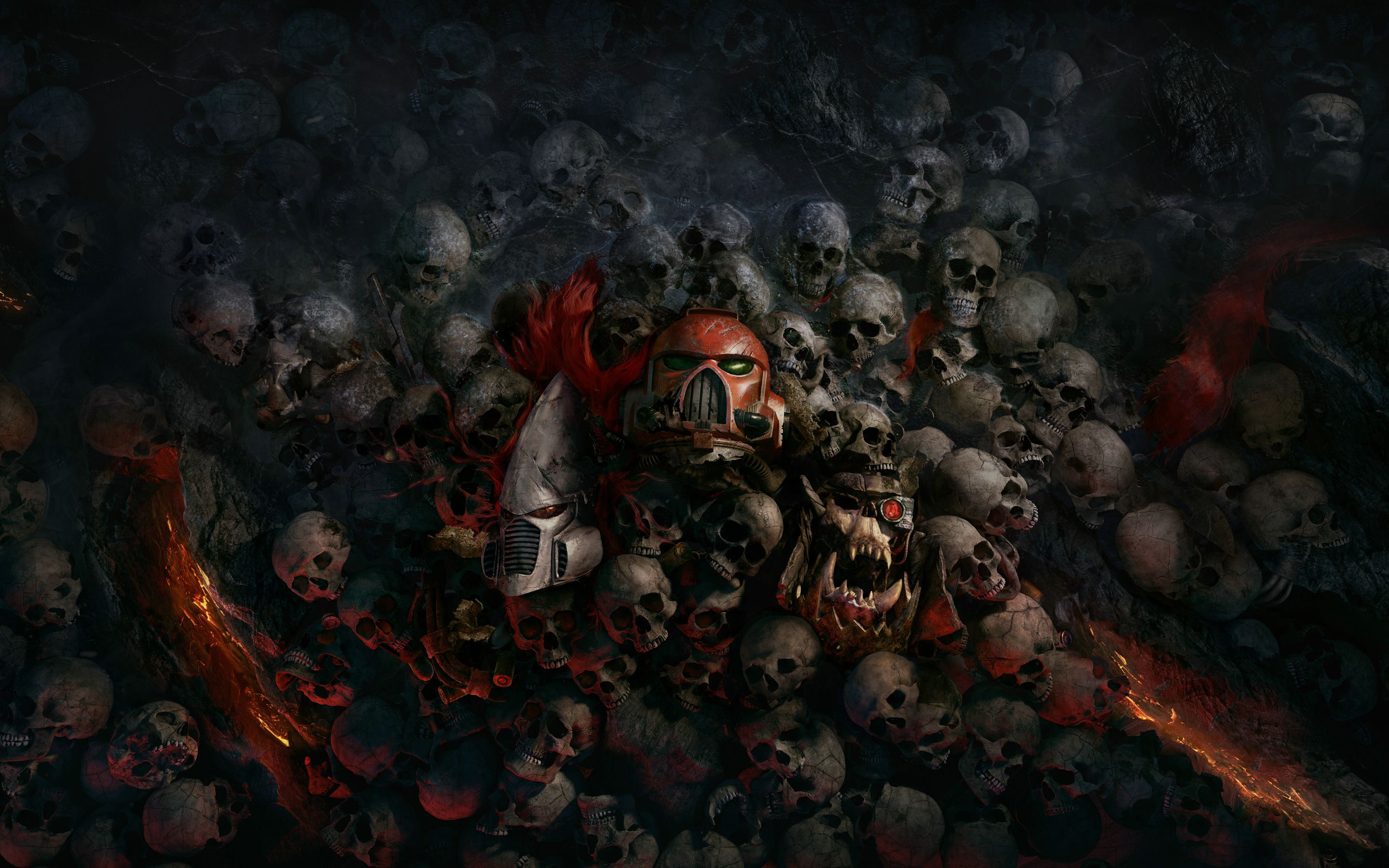 Warhammer 40000 Dawn Of War Iii 4k 8k Wallpapers Hd Wallpapers Warhammer Warhammer 40000 Skull Wallpaper