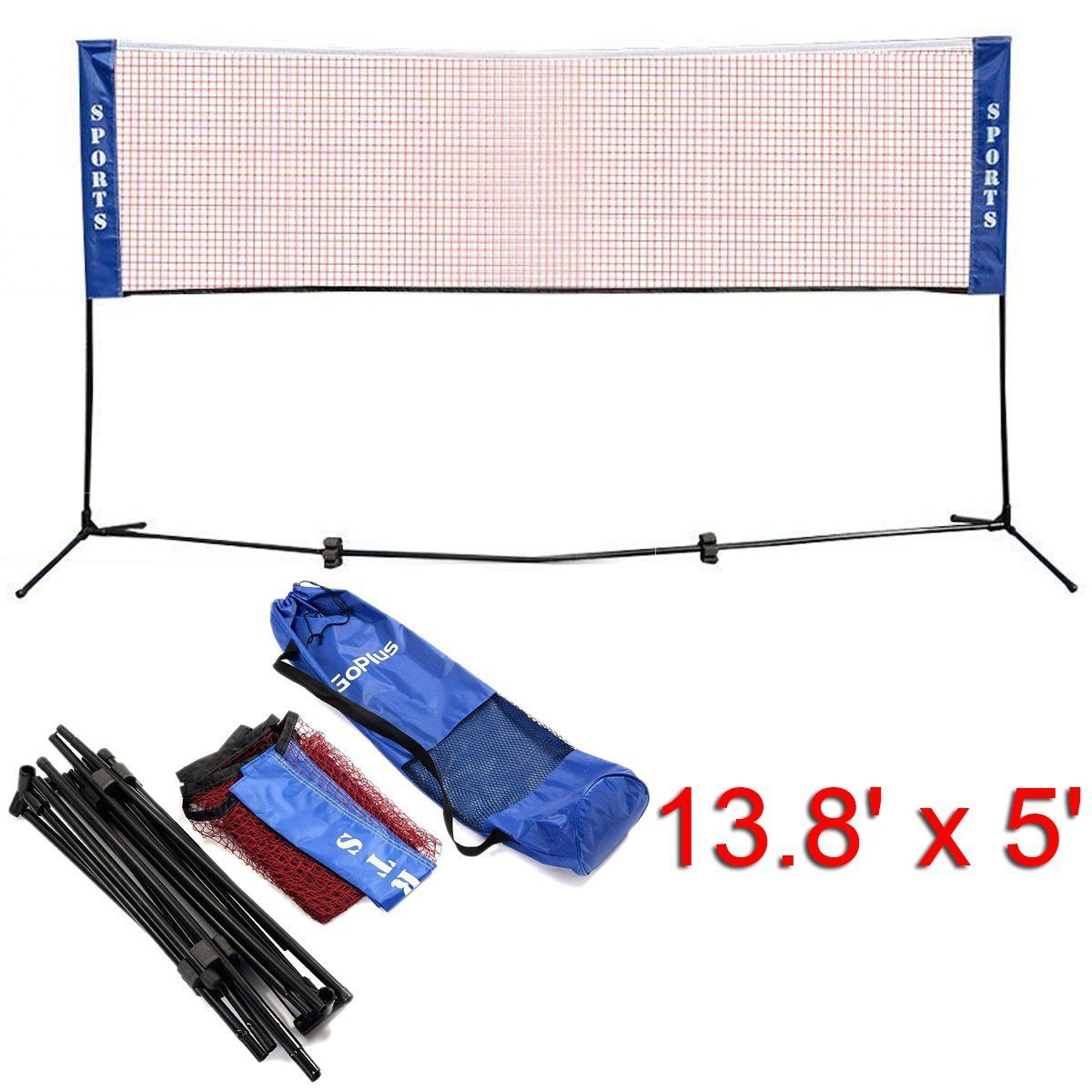 6 Goplus Portable Badminton Net Badminton Nets Badminton Tennis Nets