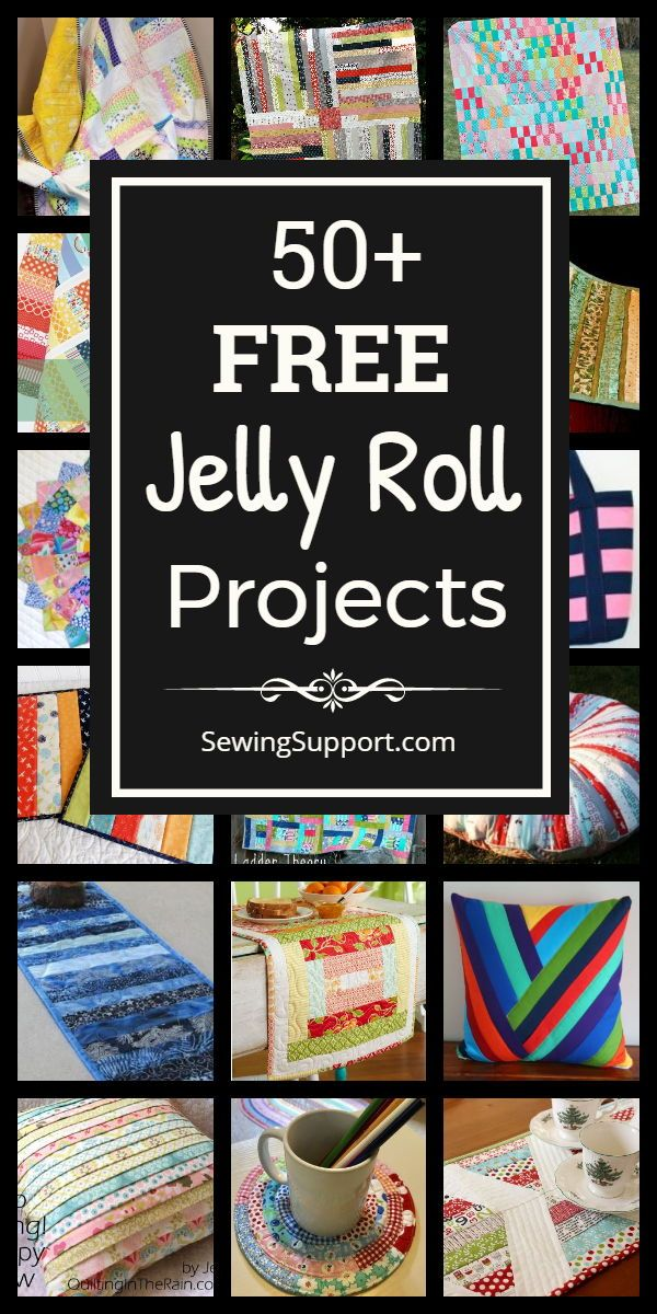 50+ Free Jelly Roll Sewing Projects