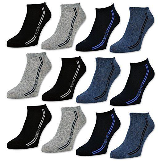 Kleidung & Accessoires 12 Paar Damen American Sneaker Socken