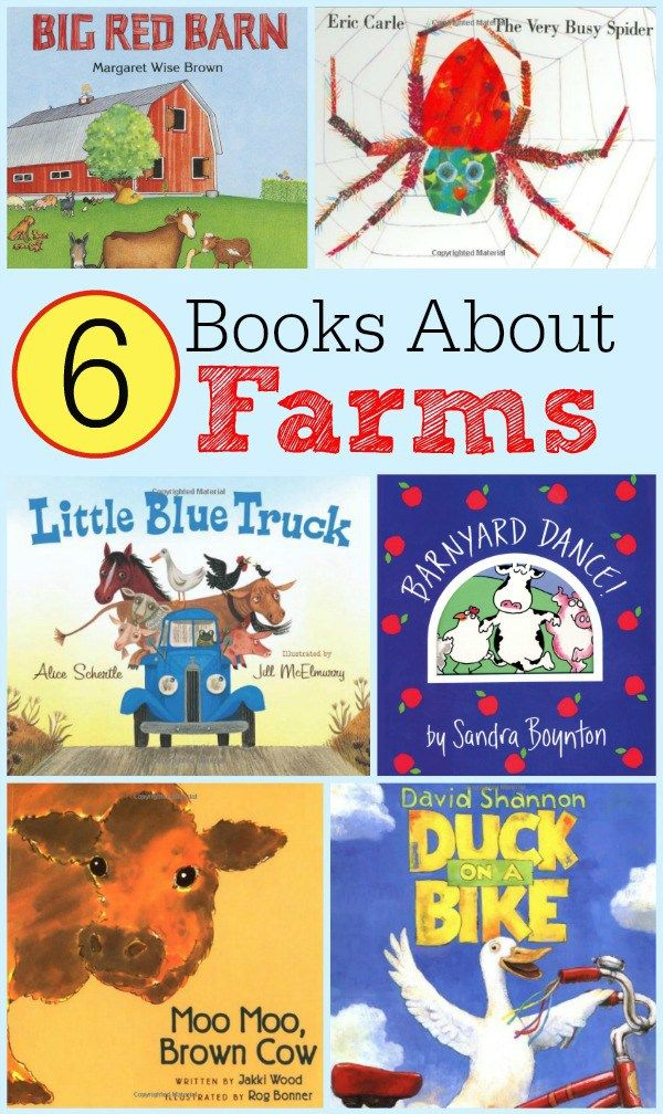 6 Books about Farms - Great Read Alouds for Preschoolers