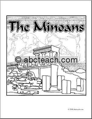 Art: Ancient Civilizations: The Minoans (coloring page