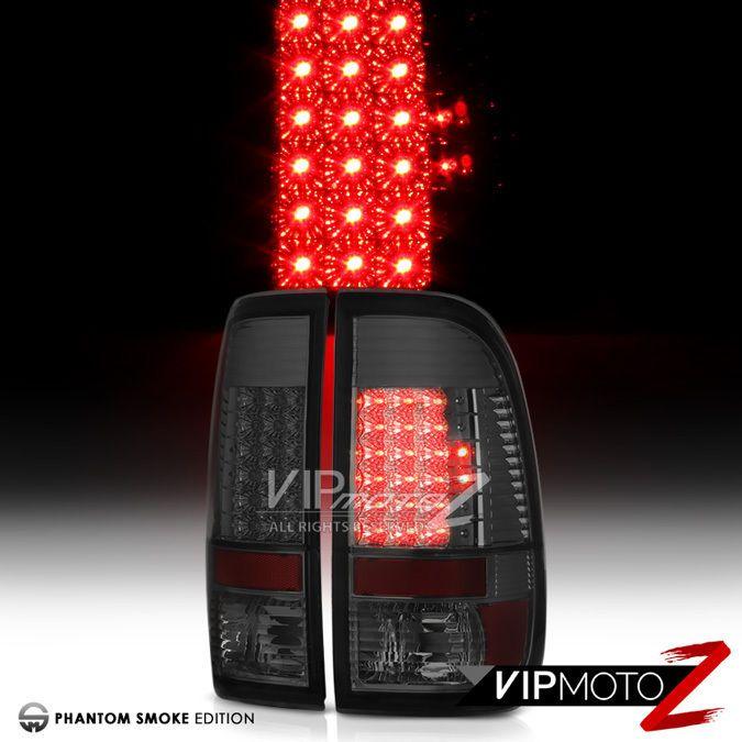 1997 2003 Ford F150 Smoke Led Brake Tail Lights Lamps Left Right 99 06 F250 F350 Vipmotoz F250 Led Tail Lights Tail Light