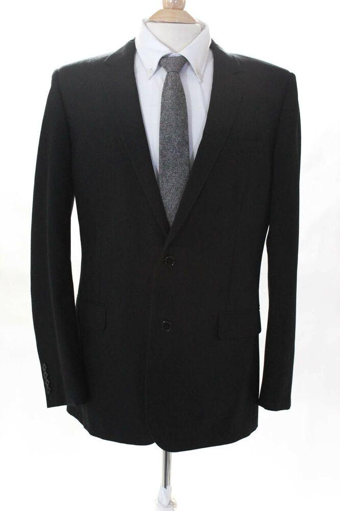 6a40d3743ac eBay #Sponsored Saint Laurent Men's Costume 29VU Blazer 2 Button Wool Black  Size 54