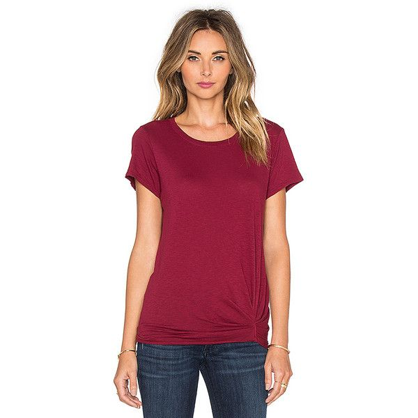 Michael Stars Short Sleeve Crew Neck Tee Tops (€69) ❤ liked on Polyvore featuring tops, t-shirts, fashion tops, crew neck tee, ruched tee, short sleeve tee, short sleeve t shirts and short sleeve crew neck tee