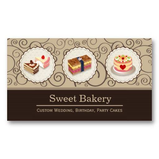 Custom Wedding Birthday Party Cakes Pastry Bakery Business Card - baker pastry chef sample resume
