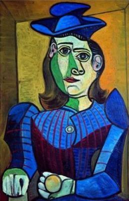 Pablo-Picasso-Femme-au-chapeau-blue | Color & Texture | Pinterest ...