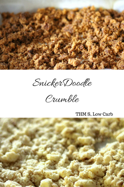 This sweetly spiced SnickerDoodle Crumble is a great grab and go cereal or yogurt topping for your Trim and Healthy or Lower Carb lifestyle! It can be Dairy Free and is also Gluten Free and Sugar Free.
