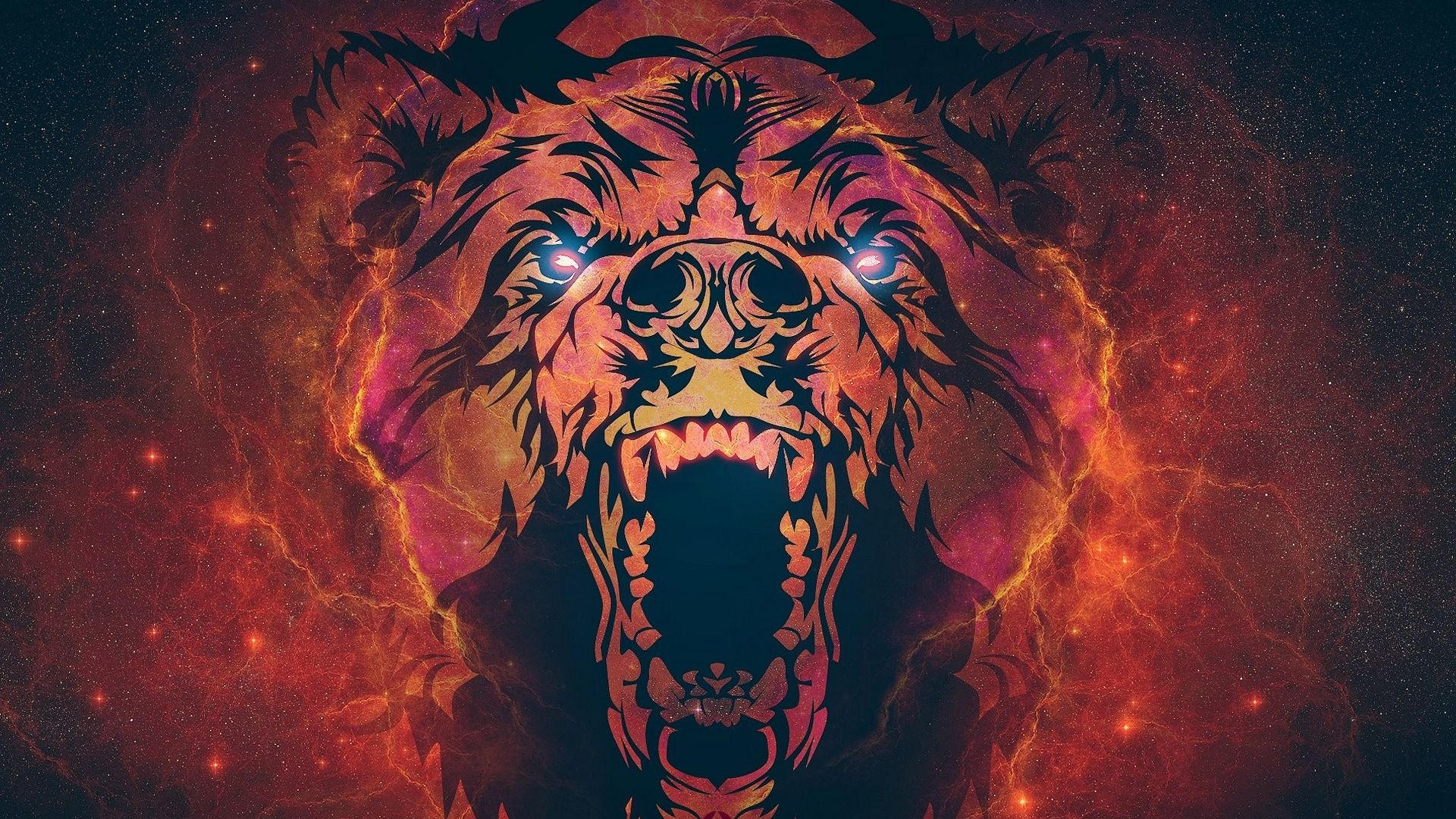 Bear Art Wallpaper Background