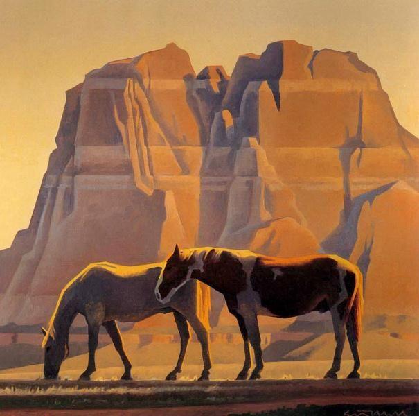 Animal Art - Ed Mell] Reservation Horses