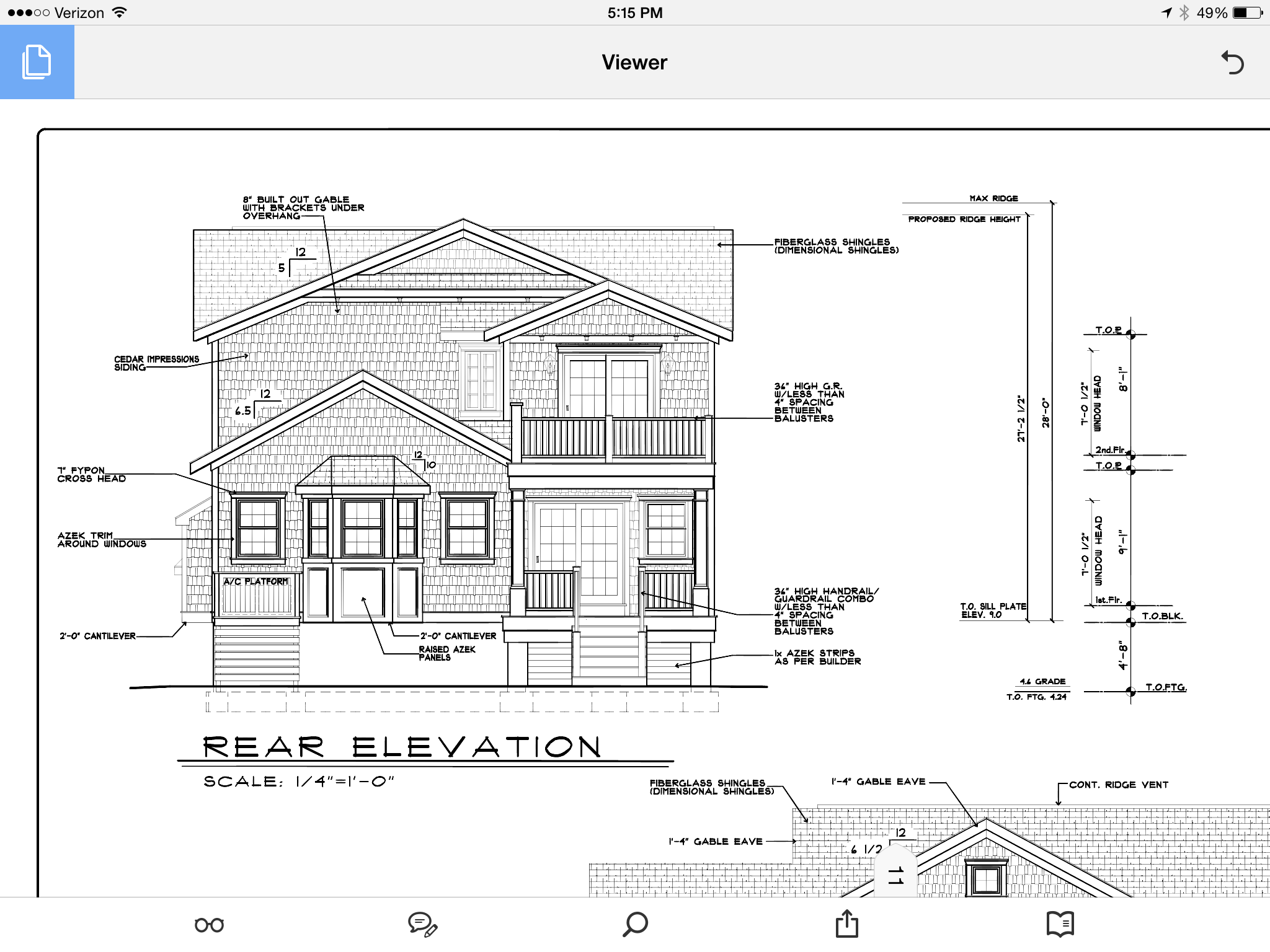 Rear Elevation Elevation Drawing Layout Room Layout