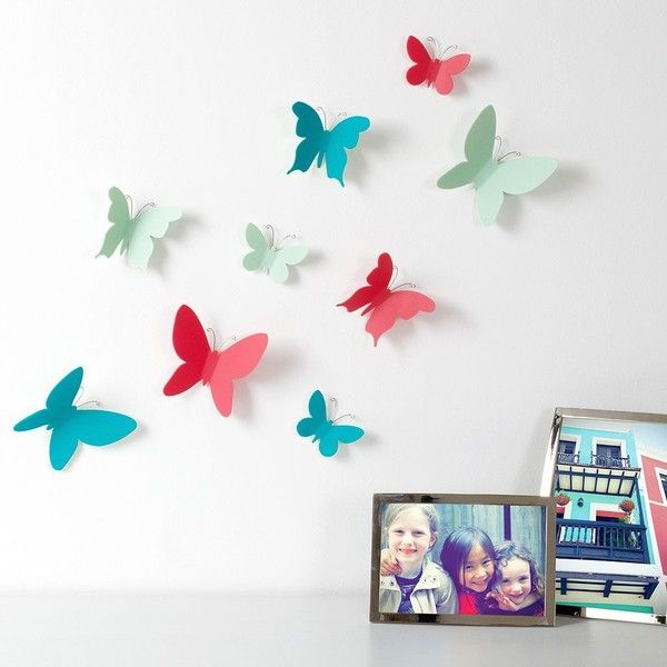 Umbra Mariposa Butterfly Wall Decor (56 SAR) ❤ liked on Polyvore