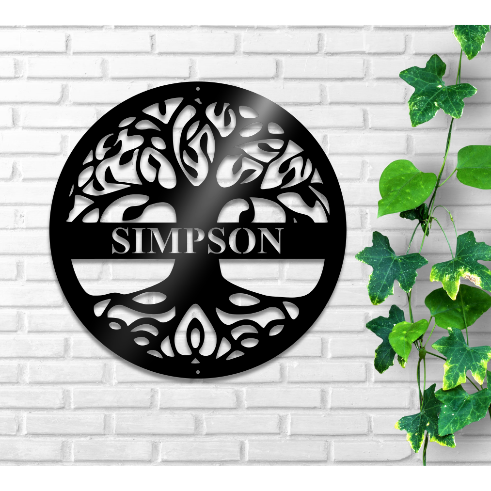 """Personalized 12/"""" Brushed Aluminum Parker Monogrammed Sign Door Wall Decor"""