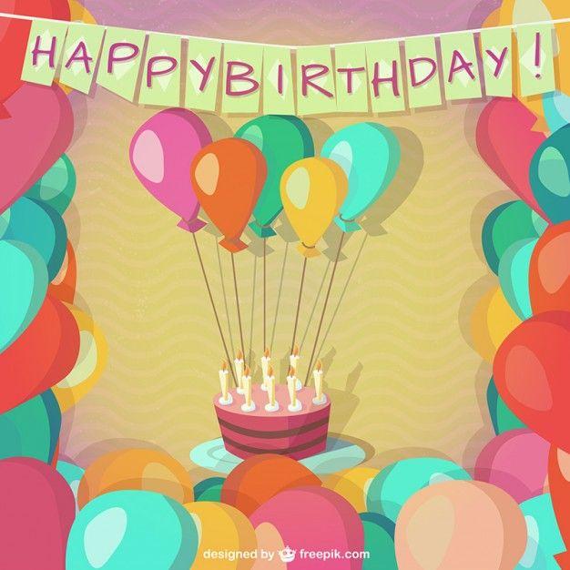 50 Free Vector Happy Birthday Card Templates / 50 Vectores de ...