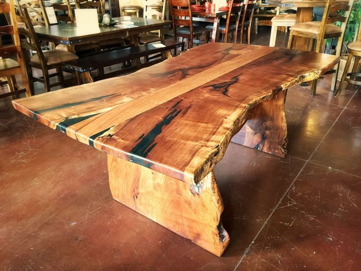 Mesquite Wood Freeform Dining Table Custom Wood Dining Creations