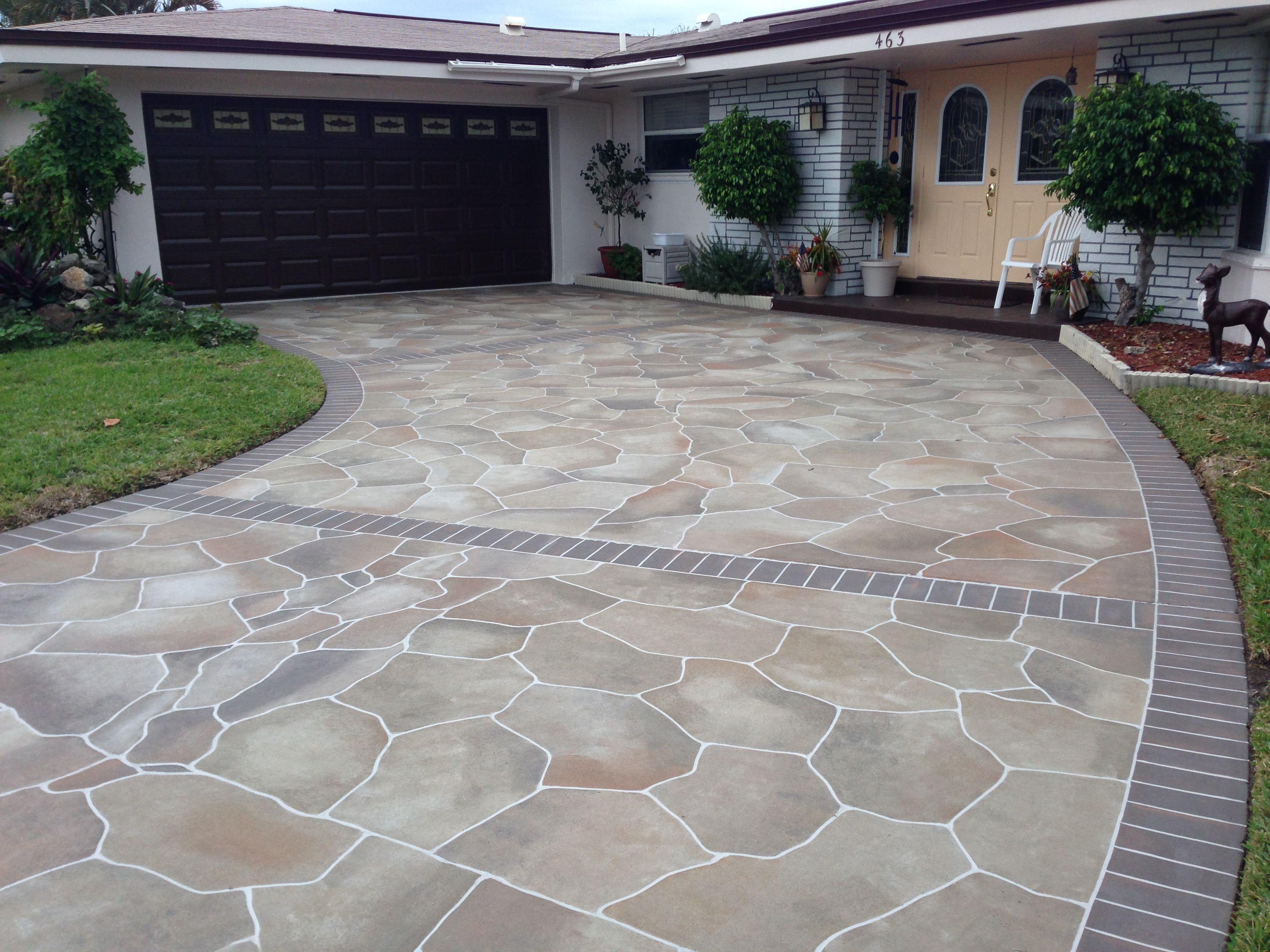 Concrete Driveway Design Ideas Driveway Design Patio Patio Tiles