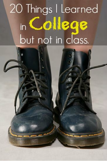 20 Things I Learned In College | Boots, Doc martens, Dr martens