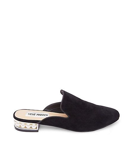51e977820e0 Gucci-inspired black suede mules with peal heels