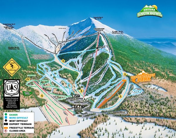 Skiing Snowbowl in Flagstaff Dream place to go to maybe this winter